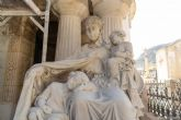 Las tres gracias del Panteón de Pedreño empiezan a recuperar su aspecto original