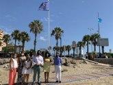 La bandera de 'Turismo Seguro' ondea en las playas de San Javier y San Pedro del Pinatar
