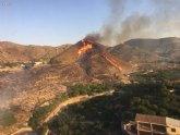 Incendio forestal en la Cañada Isidro, en Blanca