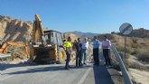 Fomento invierte más de 72.000 euros en la mejora de la carretera que une Baños de Fortuna con la carretera de Barinas, en Abanilla