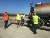 Fomento mejora la calzada de la carretera regional que conecta Mula con Pliego