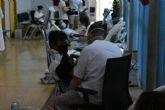 Los festeros acuden a la llamada de la donacion de sangre