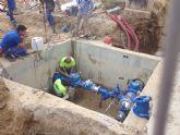 Una rotura retrasa el restablecimiento del suministro de agua