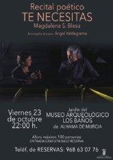 'Te necesitas', un recital de Magdalena S. Blesa este viernes en el Museo Arqueol�gico