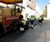 El Ayuntamiento de Puerto Lumbreras mejorará el pavimento de casi 28.000 metros cuadrados en vías de todo el municipio