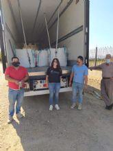D´Genes recoge dos toneladas y media de tapones en el marco de la campaña solidaria llevada a cabo en Lorca