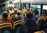 Las Torres de Cotillas estrena servicio directo de autobús con Murcia