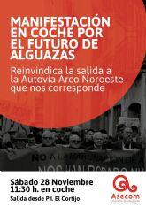 ASECOM convoca una nueva manifestación para reivindicar el cambio de la salida a Alguazas del Arco del Noroeste