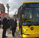 Beniel dispone de una nueva parada de autobús que mejora la seguridad de los viajeros y agiliza la conexión con Murcia