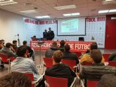 La plantilla del Real Murcia participa en una charla en materia de integridad