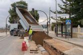 Las obras para la ampliación de la red de pluviales en El Albujón avanzan a buen ritmo