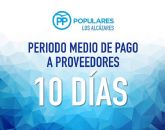 Los Alcázares paga en solo 10 días a sus proveedores