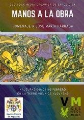 """El alumnado del CES """"Vega Media"""" presenta mañana su exposición """"Manos a la obra: homenaje a José María Párraga"""""""