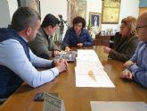 El alcalde de San Javier visita los diques que se realizaron en la rambla de Nogalte junto a los alcaldes de Puerto Lumbreras y Vélez Rubio