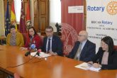 La Universidad de Murcia presenta las ayudas a la excelencia académica de Rotary Club