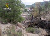 La Guardia Civil esclarece un incendio forestal ocurrido en Ojós con la investigación de un agricultor