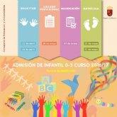 Comienza el 11 de abril la admisi�n de alumnos de 0 a 3 años en escuelas infantiles
