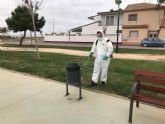 Torre Pacheco hace frente al Coronavirus con la limpieza y desinfección exhaustivas de los espacios públicos
