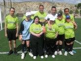 Más de 200 usuarios de 16 centros de día de discapacitados intelectuales de la Región de Murcia participan en la Jornada Autonómica de Fútbol-7