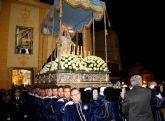 La Virgen de los Dolores mostró su esplendor  en la noche del Viernes Santo