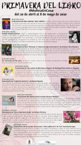 La Concejalía de Cultura de Molina de Segura organiza la Primavera del Libro #MolinaenCasa del 20 de abril al 8 de mayo