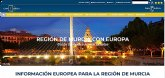 La Comunidad rediseña la web 'Murcia Región Europea' e incorpora las respuestas de las instituciones europeas ante el Covid-19