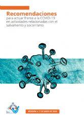 Salvamento y Socorrismo publica un documento con recomendaciones de prevención frente a la COVID-19 en las actuaciones