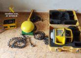 La Guardia Civil esclarece el robo de un sofisticado sistema de medición y nivelación de terrenos