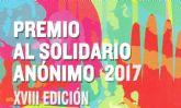 La Oficina de Voluntariado Municipal informa del 'Premio al Solidario Anónimo 2017 XVIII Edición'
