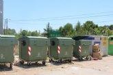 Instan a los ciudadanos a realizar un uso adecuado de los contenedores en las zonas de los Huertos y las pedanías en verano