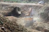 La CHS perfila el cauce de la rambla de Las Zorreras en Alcantarilla