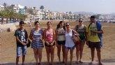 Los jóvenes del 'Proyecto Labor 2.0: garantía juvenil' realizan una nueva actividad grupal, en la zona costera de Mazarrón