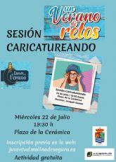 El programa UN VERANO DE RETOS de la Concejalía de Juventud de Molina de Segura ofrece la sesión Caricatureando el miércoles 22 de julio