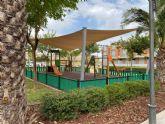 La pedanía de Algezares estrena un parque y jardín de 8.000 m2, adaptado a niños de todas las edades, que fomenta la integración