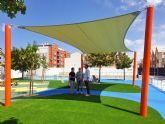 La Concejalía de Deportes mejoró el sombraje, pavimento y ajardinamiento de la piscina municipal de Caravaca