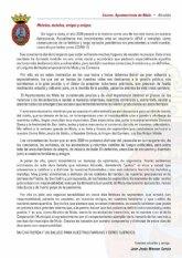 Carta del Alcalde a los ciudadanos de Mula. Septiembre 2020