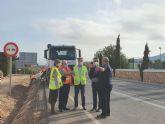 Refuerzan la seguridad de los taludes de la carretera que une Los Belones con Portmán