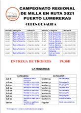 Puerto Lumbreras acoge el próximo sábado la prueba que decidirá los títulos regionales de Milla en Ruta 2021