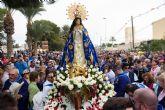 Una multitudinaria romería arropa a la Purísima en su regreso a Bolnuevo
