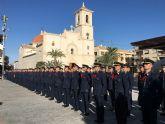 El alcalde José Miguel Luengo  recibe en el Ayuntamiento a los nuevos alumnos de la Academia General del Aire