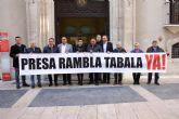 El presidente de la CHS recibe a representantes de la Plataforma 'Presa Rambla Tabala'