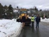Normalidad en las carreteras de la Región, en donde sólo queda cerrada al tráfico una vía en Moratalla