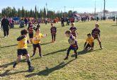 Cerca de 200 jóvenes jugadores disfrutan en Las Torres de Cotillas de la fiesta del rugby de la Región de Murcia