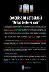 Las Concejalías de Cultura y Patrimonio convocan el Concurso de Fotografía 'Bullas desde tu casa'