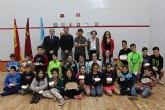 Más de 50 deportistas participan en el campeonato de España sub 11 y 15 de squash celebrado en San Pedro del Pinatar