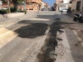 Acometen trabajos de reparación del firme en numerosas calles del casco urbano