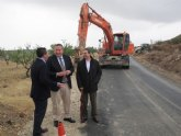 Comienza el arreglo de la carretera La Puebla de Mula-Fuente Librilla
