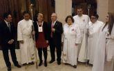 La consejera Noelia Arroyo asiste a la procesión del Domingo de Ramos de Alcantarilla