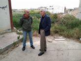 El PSOE insta a Urbanismo a adoptar medidas 'con carácter de urgencia' para acabar con la ´calle del bancal´ en el Barrio del Cabezo Verde de Alcantarilla