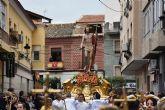 Finalmente la lluvia dio la tregua necesaria para que la procesión del Resucitado y el Encuentro Glorioso se pudieran celebrar en Archena